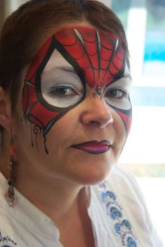 Pixie's Face Painting & Portraits - Lovely spider girl/boy mask design idea.