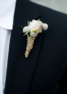 Brunia Silver boutonniere<3 #diyboutonniere #easydiyproject