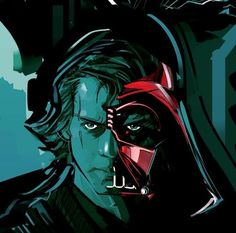 Anakin/Vader morph | Artist and Publication unknown please send credits info to Optimystique1