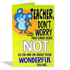 Wishes for Happy Teacher's Day Gifts, greeting cards for teachers day online delivery by Hallmark India. Greeting Cards For Teachers, Teachers Day Gifts, Happy Teachers Day, Teacher Cards, You Are My Favorite, My Favorite Things, You're Awesome, Amazing, Teachers' Day