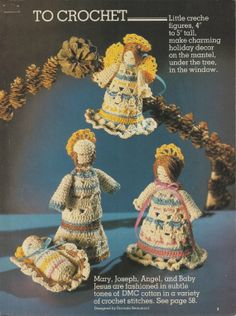 Crochet:  Charming Little Creche by BeadedBundles