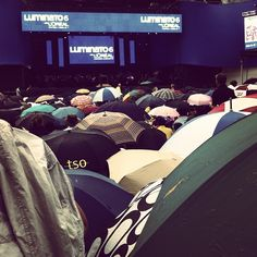 A sea of umbrellas brave the rain for the Toronto Symphony at Luminato, June 17 - Tweeted by @cassie_macke