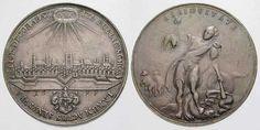 breslau-jhwh-1699 Medal z 1699 roku, Wrocław, Polska