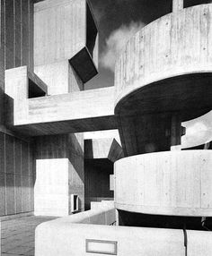 The Hayward Gallery in 1968 Greater London Council #brutalism, brutalist architecture