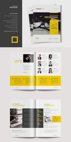 Business Proposal Template #proposal #brochure #template #indesign