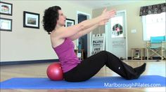 Pilates ab exercises with mini ball