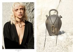 A brass oval link with a suede leather neck tie with brass tips. This piece can be worn multiple ways, as a choker or looped as a necklace. Collections Photography, Ring Earrings, Suede Leather, Leather Backpack, Jewelry Collection, Hair Makeup, Campaign, Chokers, Mary