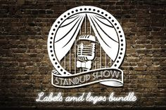 Stand up comedy show logos bundle by SiberianArt on @creativemarket
