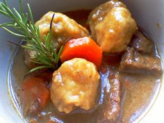 Herb Suet Dumplings with Beef Stew - mary mary quite contrary