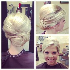 Bridesmaid hair #wedding #bridal #hair #updo