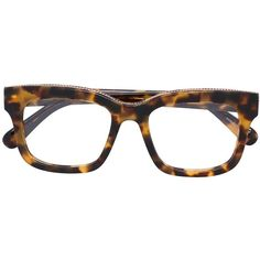 Stella McCartney 'Falabella' chain trim glasses ($280) ❤ liked on Polyvore featuring accessories, eyewear, eyeglasses, brown, rectangle eyeglasses, tortoiseshell eyeglasses, tortoise eye glasses, unisex glasses and rectangle glasses
