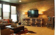 TV-Möbel aus Paletten mit