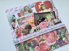 St Valentine's Day Romantic Vintage themed ephemera kit 4