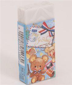 travel teddy bear eraser letter traveling bag 1