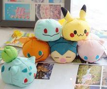 Christmas gift 6 styles 9cm Tsum Tsum mini plush Anime Cartoon TSUM Pokemon Plush Toys Doll Kids Gifts bonecas brinquedos(China (Mainland))