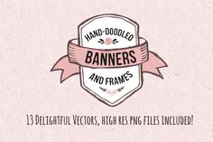 Check out Hand-Doodled Banners & Frames by Nicky Laatz on Creative Market