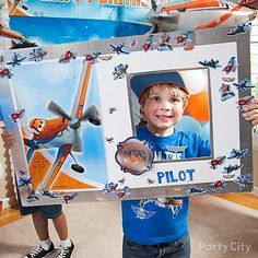 "Creativity will soar with this fun DIY activity! Let the kids decorate a ""pilot's license"" out of poster board, a section of a Planes scene setter, cutouts and stickers!"