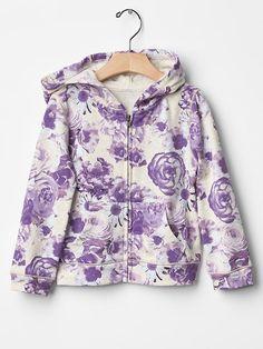 Floral zip hoodie Product Image