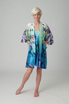 Paradise silk robe via local Vancouver designer Christine Morton.