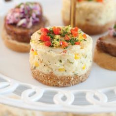 Savory Crab and Corn Cheesecakes Recipe from Tea Time Magazine