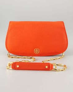 Tory Burch - Saffiano Flap-Top Clutch Bag - http://womenspin.com/handbags/tory-burch-saffiano-flap-top-clutch-bag/