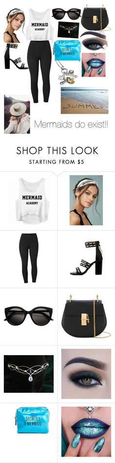 """mermaid also cute outfit"" by peyton-godwin ❤ liked on Polyvore featuring beauty, LULUS, Venus, Chloé, Too Faced Cosmetics, Pinch Provisions and plus size clothing"