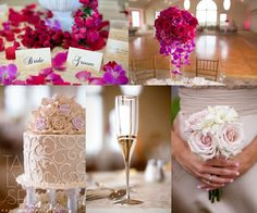 Love this purple/pink theme! Pairing pastels and bright pops of color is so fun! #GLGC #wedding #pink #purple #cake #flowers #taralynnsen