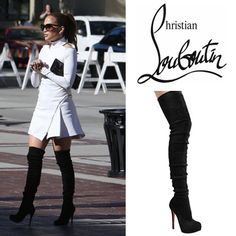 christian louboutin gazolina over the knee boots