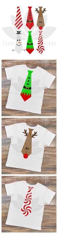 Christmas Ties SVG cut files for silhouette cameo and cricut vinyl cutting machines. $3