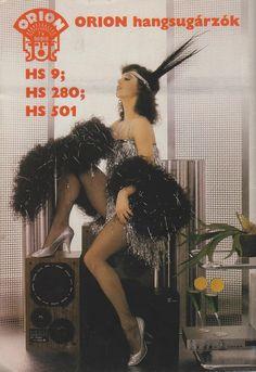Nosztalgia képesgyűjtemény modellekről, akik a rendszerváltás évei előtt a szépségideált, eleganciát és a divatot testesítették meg Magyarországon. Címlapok, divatfotók, plakát- és reklámképek, kártyanaptárak stb. Marcel Breuer, Vintage Humor, Vintage Ads, Orion Tv, Scandinavian Style, Radios, Big Speakers, Old Time Radio, Woman Standing