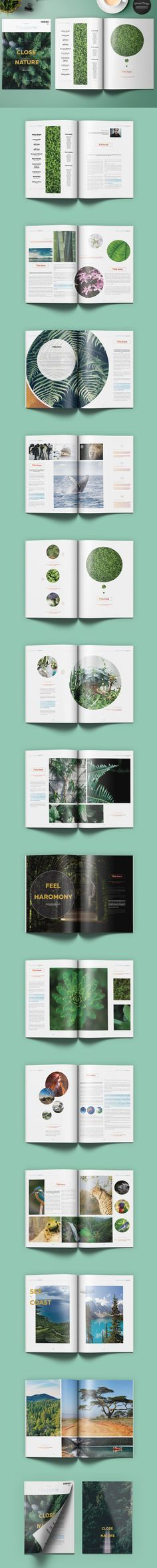 Natural Magazine 30 Pages Template INDD
