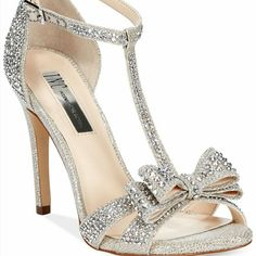 602b407c6eb Inc Special Ocasion Shoes Silver Evening Shoes