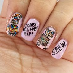 Harry Potter Nails: Dobby is a Free Elf!