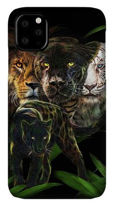 Art Phone Cases, Iphone Cases, Panther, Equality, Iphone 11, Fine Art America, Lion, Prints, Social Equality