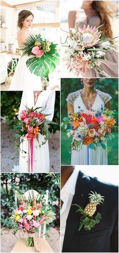 Ideas and Inspiration for your Boho Tropical Theme Wedding