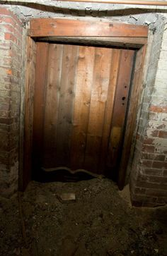 Door in the tunnel in between the two basements under the Downing block in Salem, Ma. Runaway slaves found quarters behind this door when they were traveling through the Underground Railroad. Essex Street, History Taking, Underground Railroad, Ghost Tour, Let Freedom Ring, African American History, History Facts, Walking Tour, Black History
