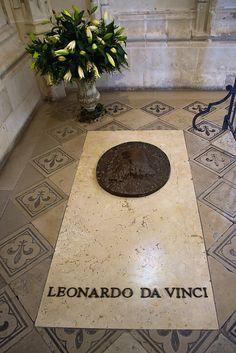 Tomb of Leonardo da Vinci, Leonardo da Vinci was buried in the Chapel of Saint-Hubert in Château d'Amboise, in France.