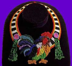 Beadwork by: Liz Manfredini  Oh I need this! My days are mostly consumed with feathered creatures that cluck & crow!