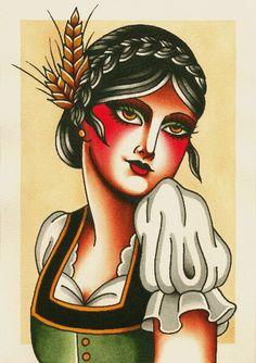 Our beautiful new label by local tattoo artist Jarrad Serafino @jserafino #Viennagirl #viennalager # Oktoberfest