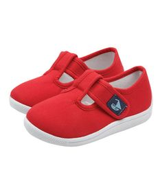 Another great find on #zulily! Red Canvas Summer T-Strap Shoe #zulilyfinds