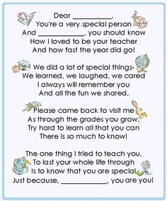 Goodbye Poem For Students  Goodbye Poem Classroom Freebies And Poem