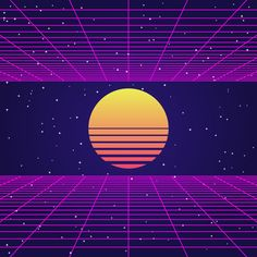 Choose from thousands of free vectors, clip art designs, icons, and illustrations created by artists worldwide! Wallpaper Space, Retro Wallpaper, Aesthetic Backgrounds, Abstract Backgrounds, Retro Art, Retro Vintage, 80s Background, Vaporwave Wallpaper, Vaporwave Art