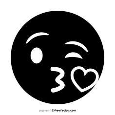 Black Face Blowing a Kiss Emoji  - https://www.123freevectors.com/black-face-blowing-a-kiss-emoji-85660/