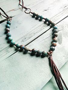 BLUE OCEAN AGATE STONE NECKLACE