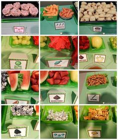 Minecraft party labels food tents poster by minecraftpartysolved minecraft birthday party food and food tents forumfinder Images