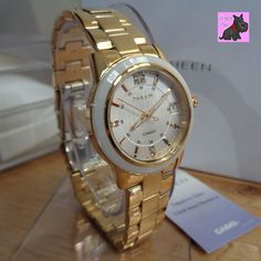 Casio SHE-4512G-7AUER Ladies Sheen Gold Plated Watch with Swarovski Elements New