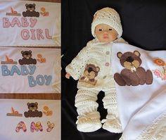 Baby Shower Christening Newborn Crochet by MagicalStrings on Etsy