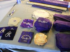 quilt made out of crown royal bags | Here are all the Crown squares cut!