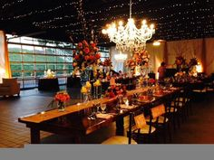 Burgundy and blue wedding reception and decor in the Chateau Elan ...