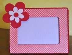 portafoto in cartone con applicazione feltro